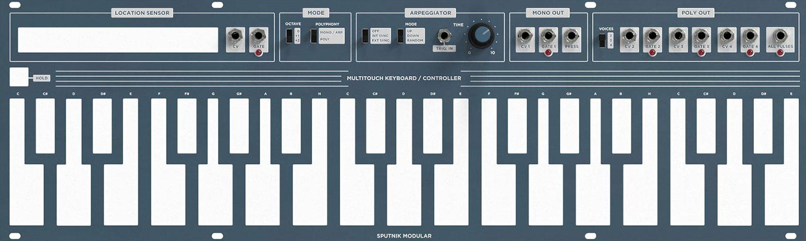 Sputnik Multitouch Keyboard Controller